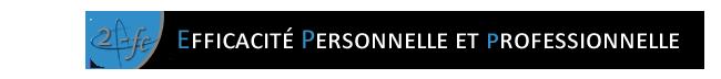 Efficacité personnelle et professionnelle